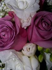 ...v květinářství mi je speciálně objednaly z Holandska a ve skutečnosti mají fialkový střed, do růžova jsou z venku..