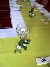 detail výzdoby stolu