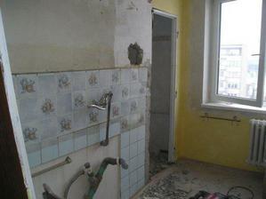 bývalá kuchyň - nyní ložnice