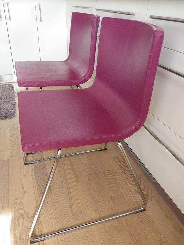 Kožené židle Bernhard IKEA 4ks - Obrázek č. 1