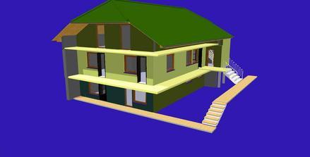 sem sa chceme prepracovat, zatial mame rovnu strechu... tie farby su len na oddelenie , konecna verzia sa este uvidi :)
