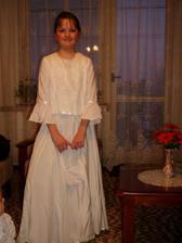 Borka - len tu ešte pracujeme na šatách :) bola to skúška na rýchlo bez žehlenia :)