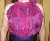 Fialovo ružové šaty L, 40