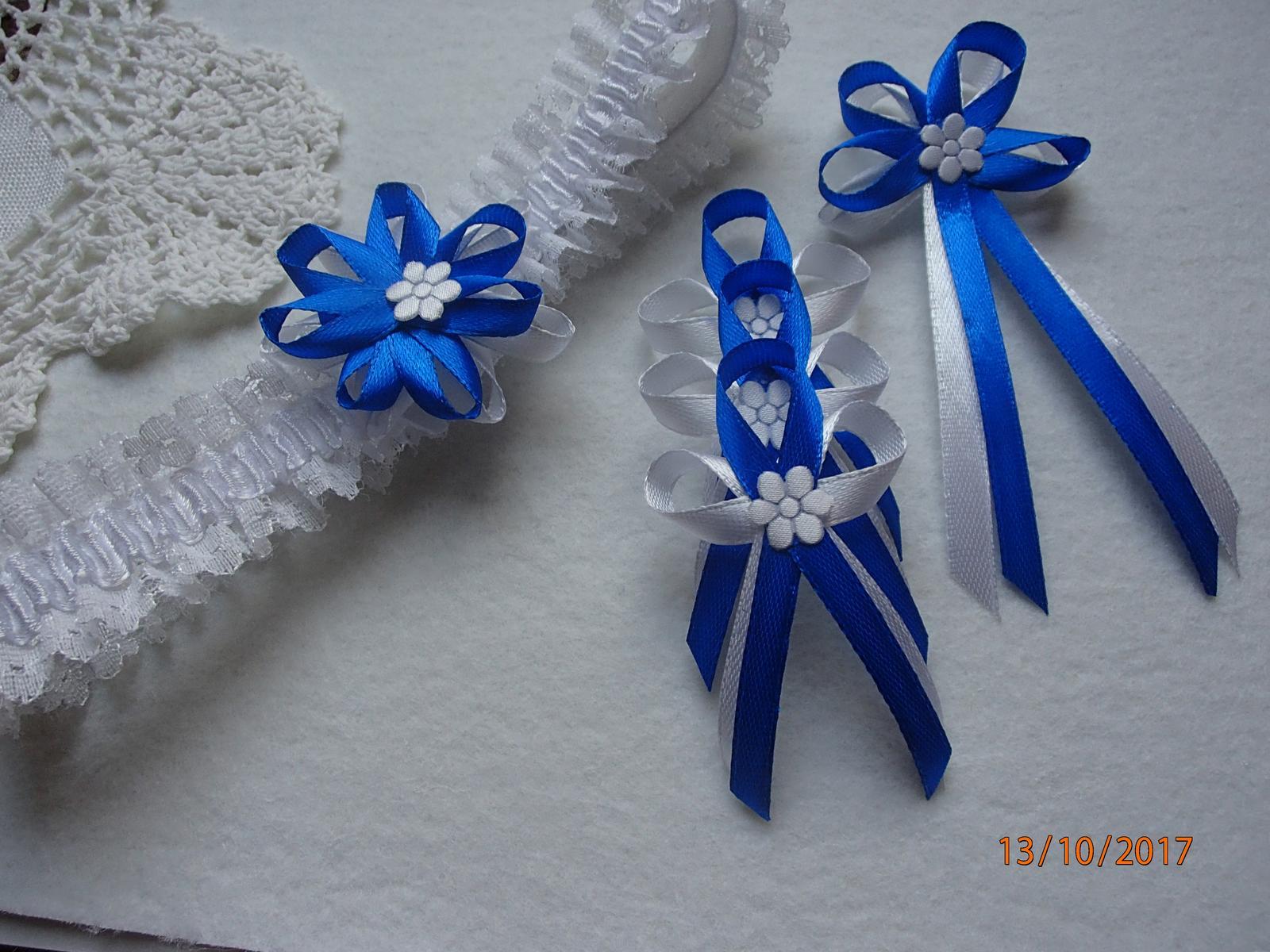 Svatební vývazky, polštářky, ozdoby do vlasů a podvazky... - Obrázek č. 5