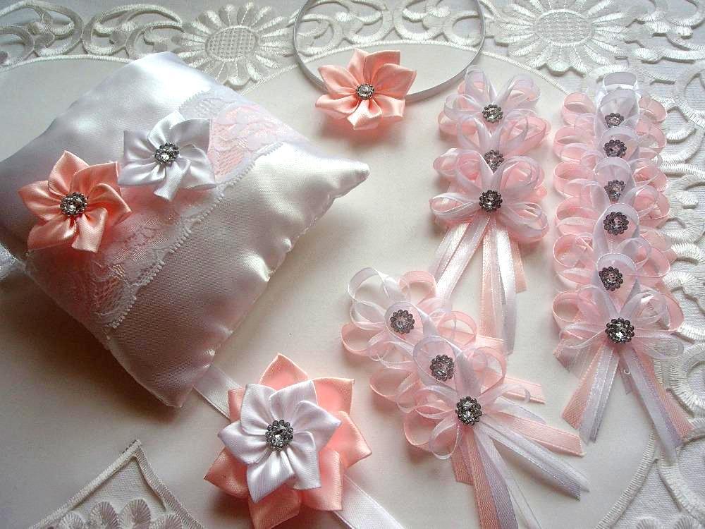 Svatební vývazky, podvazky, polštářky pod prstýnky, náramky.. - Obrázek č. 19