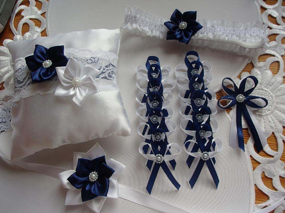Svatební vývazky podvazky, polštářky a další drobnosti... - Obrázek č. 13