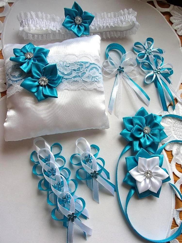 Svatební vývazky podvazky, polštářky a další drobnosti... - Obrázek č. 6