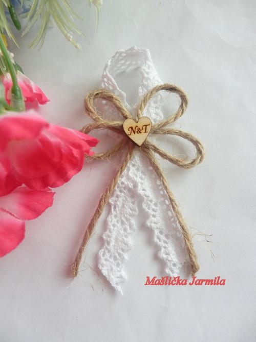 Svatební vývazky, podvazky, polštářky pod prstýnky, náramky.. - Obrázek č. 41