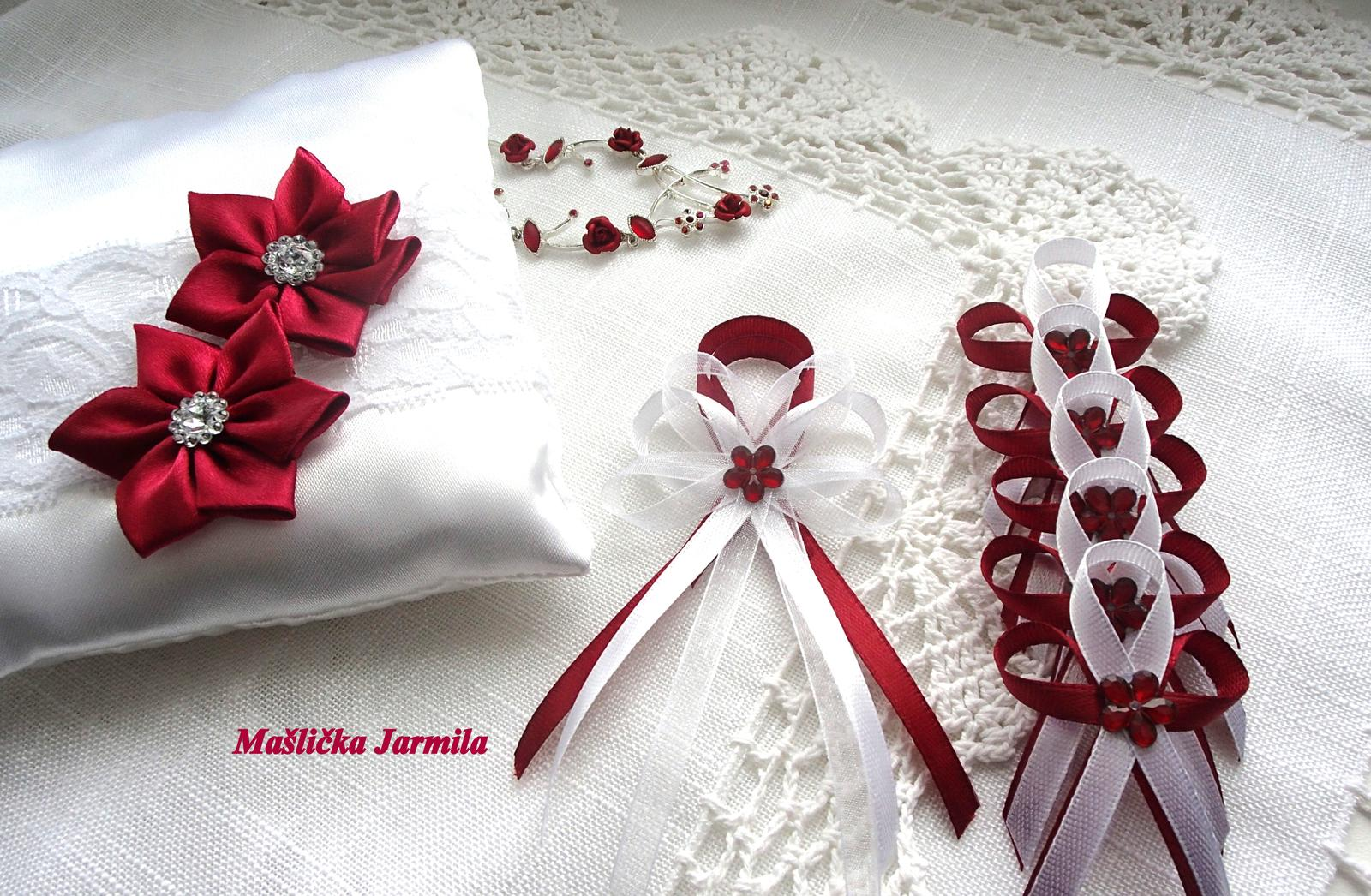 Svatební vývazky podvazky, polštářky a další drobnosti... - Obrázek č. 22