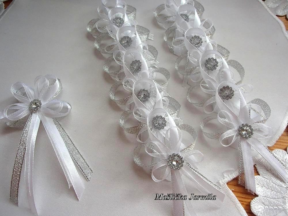 Svatební vývazky podvazky, polštářky a další drobnosti... - Obrázek č. 41