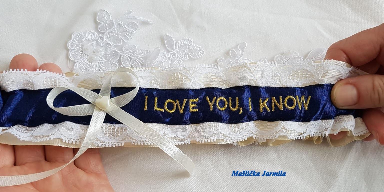 Svatební vývazky, podvazky, polštářky, náramky... - Obrázek č. 127