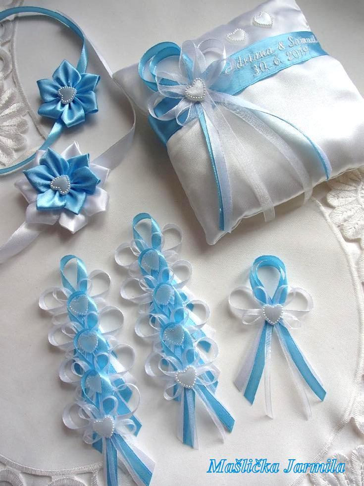 Svatební vývazky podvazky, polštářky a další drobnosti... - Obrázek č. 4