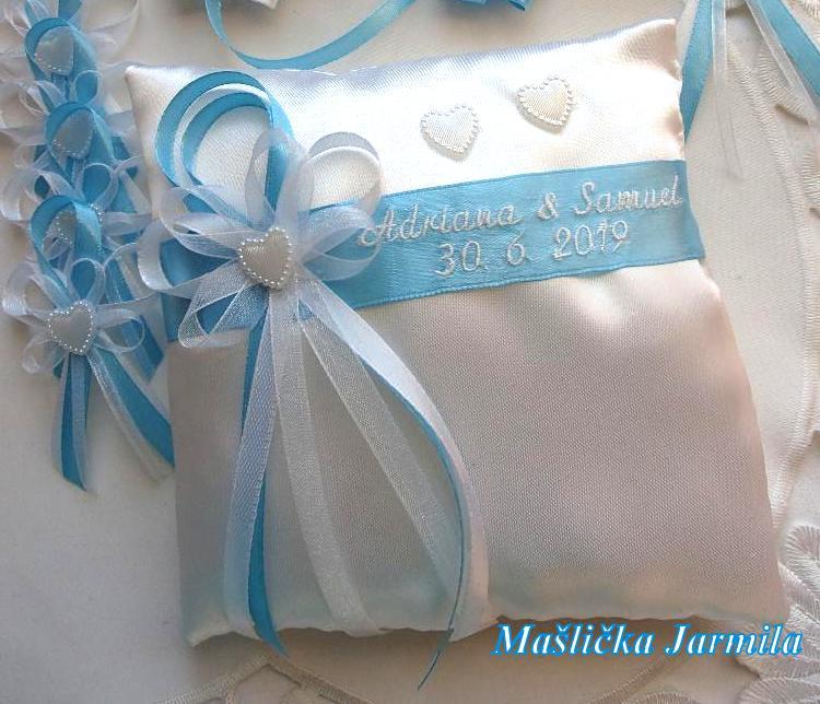 Svatební vývazky podvazky, polštářky a další drobnosti... - Obrázek č. 2