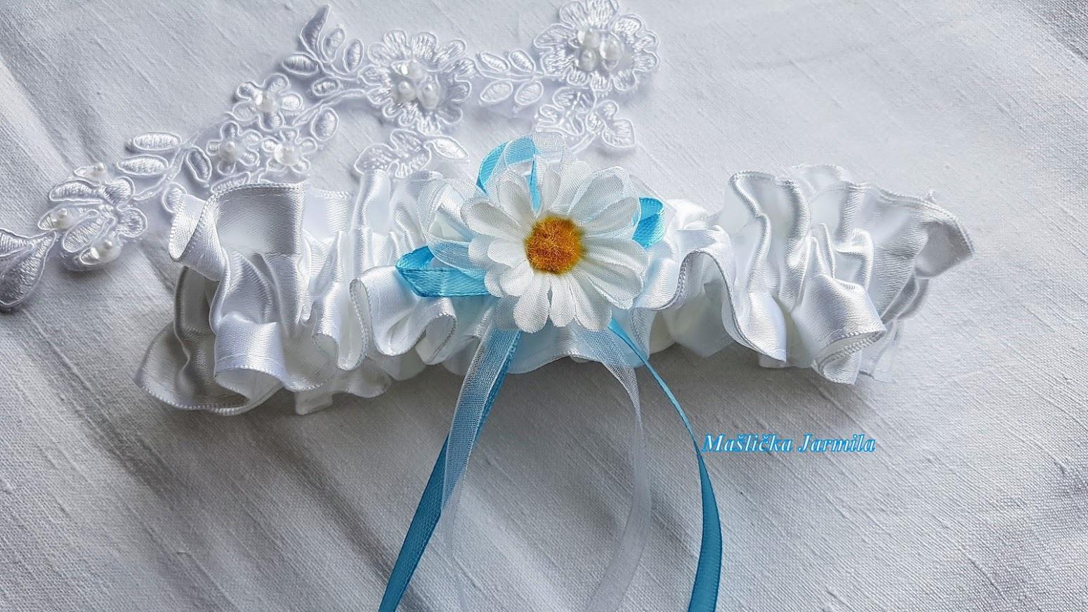 Svatební vývazky podvazky, polštářky a další drobnosti... - Obrázek č. 3