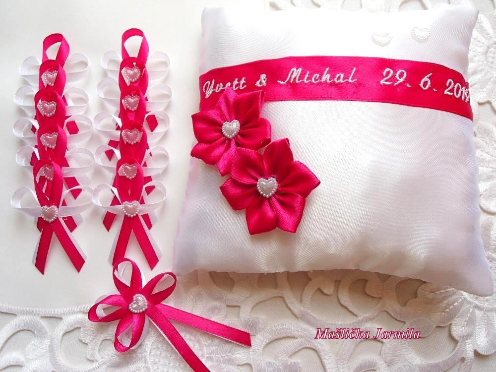 Svatební vývazky podvazky, polštářky a další drobnosti... - Obrázek č. 105