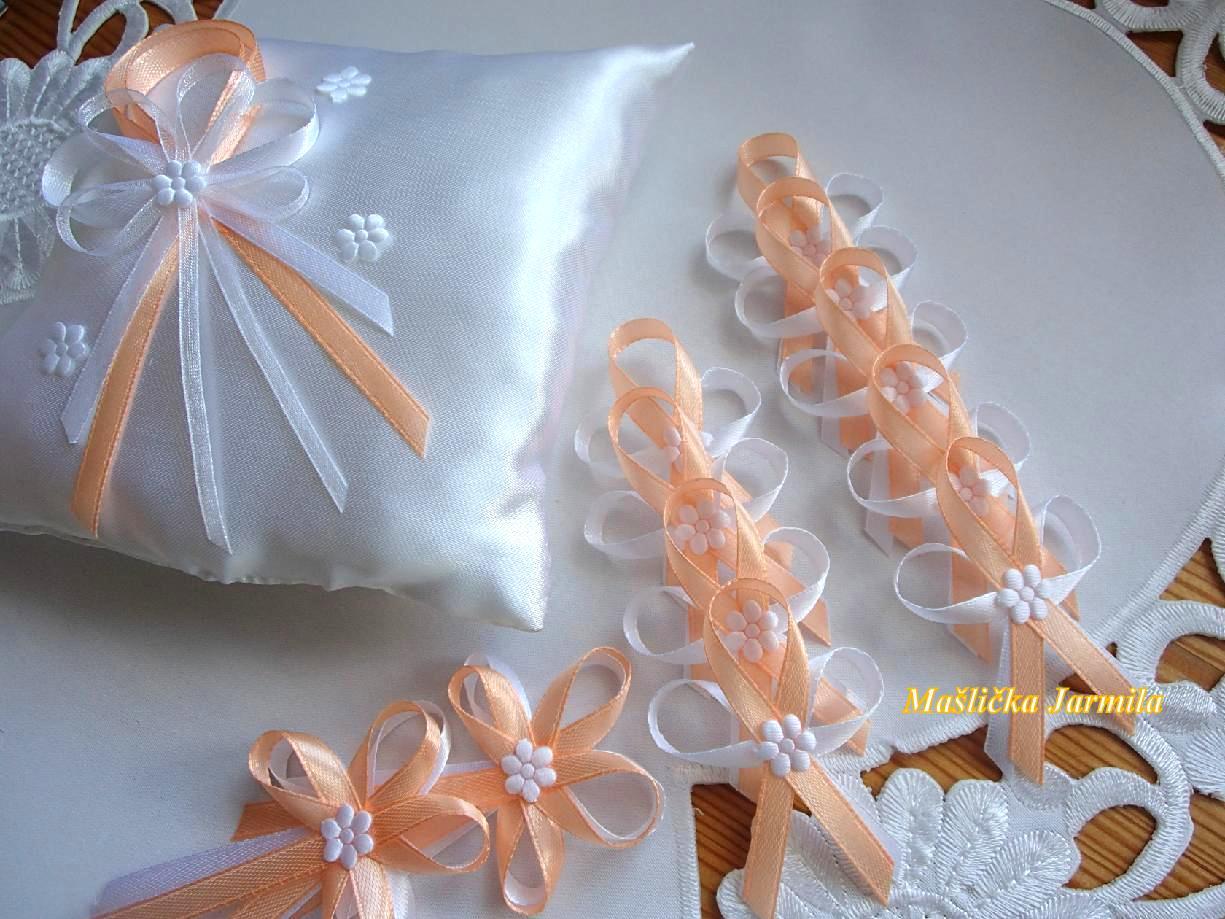 Svatební vývazky, podvazky, polštářky, náramky... - Obrázek č. 154