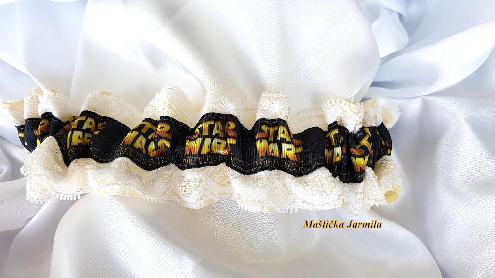Svatební vývazky, polštářky, ozdoby do vlasů a podvazky... - Obrázek č. 19