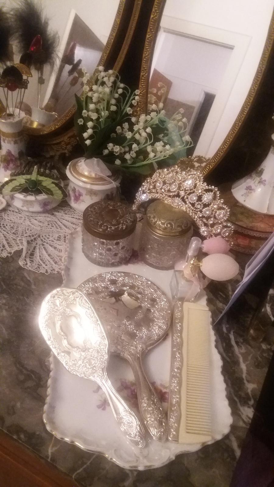 Naše dobová viktoriánská  svatba - Část stříbra z mé svatební výbavy 😍