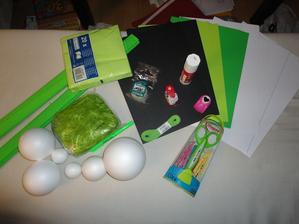 první nákup základních věcí....:) a můžeme začít tvořit :)