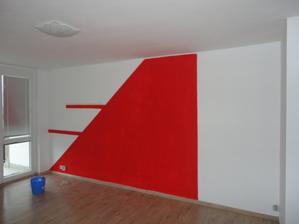 budoucí stěna obýváku