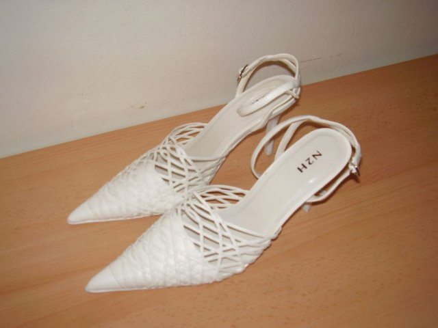Klára a Tomáš 11.8.2006 - moje svatební botičky