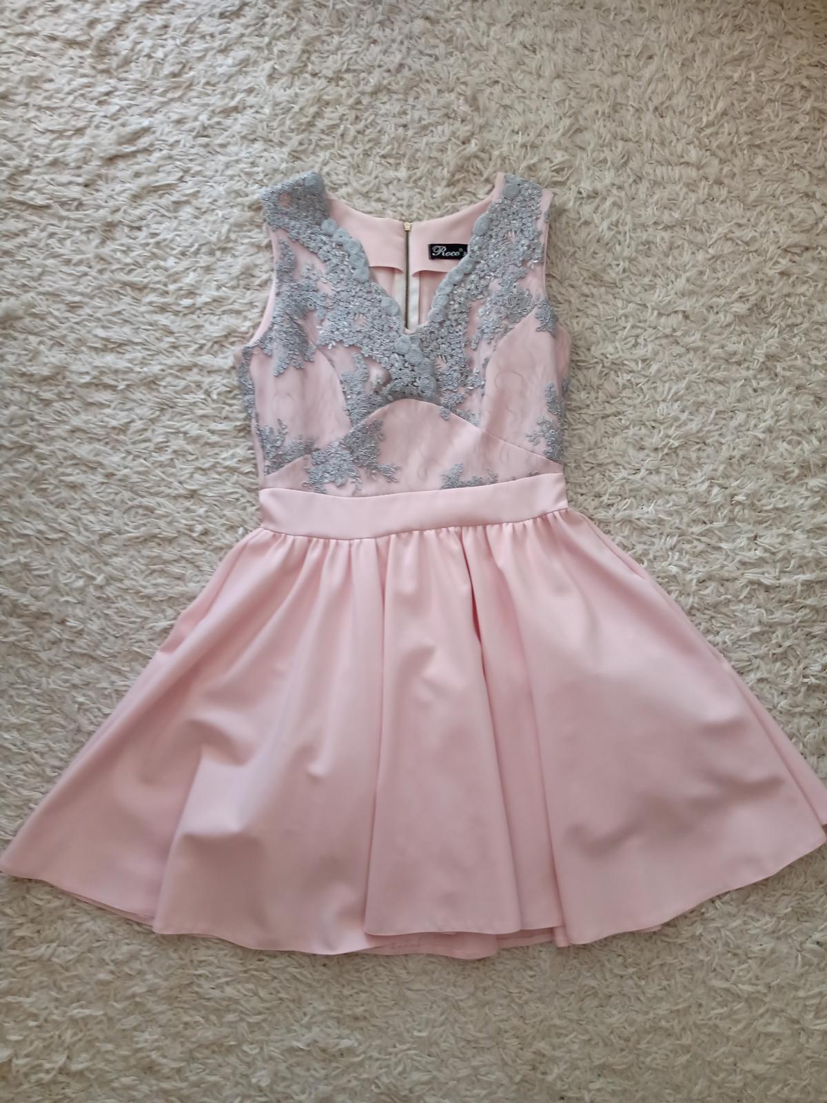 Spoločenské šaty, veľkosť 38 - Obrázok č. 1