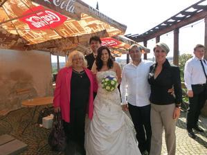 Teta Květa, my a Robert s Martinou