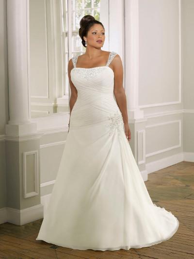 Výprodej svatebních šatů - Mori Lee 3095, ivory, vel. 42 - 44, cena 9.000 Kč