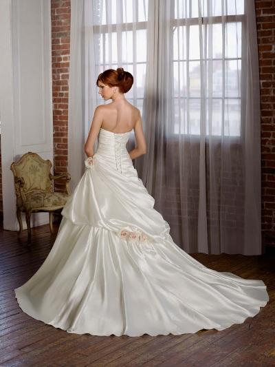 Výprodej svatebních šatů - Mori Lee 4810, ivory, vel. 38 - 40, cena 4.000 Kč