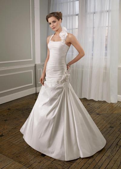 Výprodej svatebních šatů - Mori Lee 6711, bílá barva, vel. 36 - 38, cena 4.000 Kč
