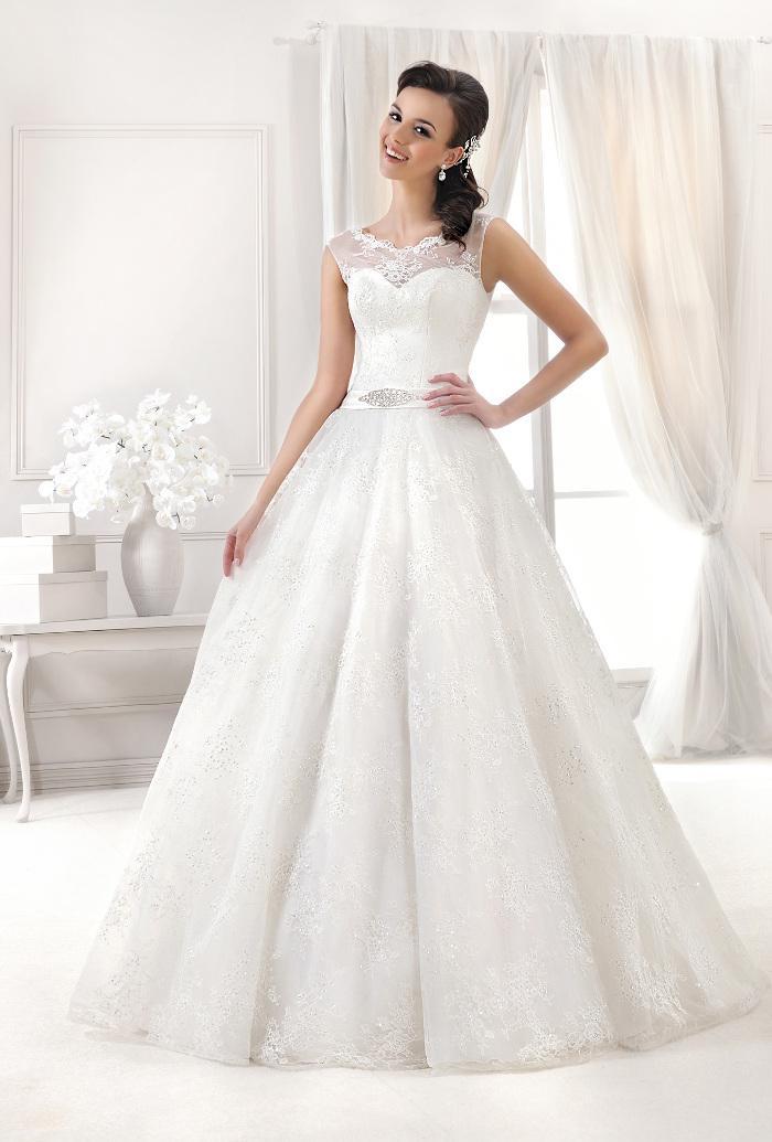 Výprodej svatebních šatů - Agnes 11765, bílá barva, vel. 38 - 40, cena 7.500 Kč