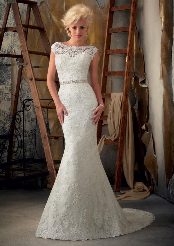 Výprodej svatebních šatů - Mori Lee 1901, cena 4.000 Kč