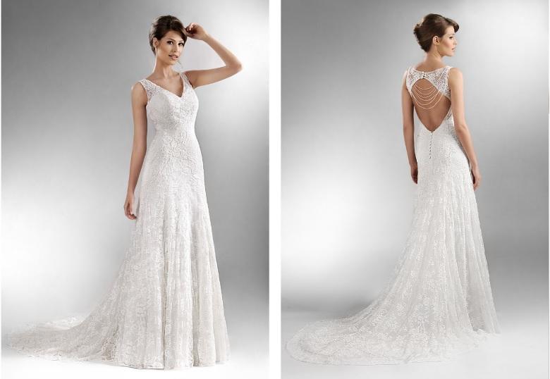 Výprodej svatebních šatů - Agnes - T0 594, nové, cena 11.500 Kč