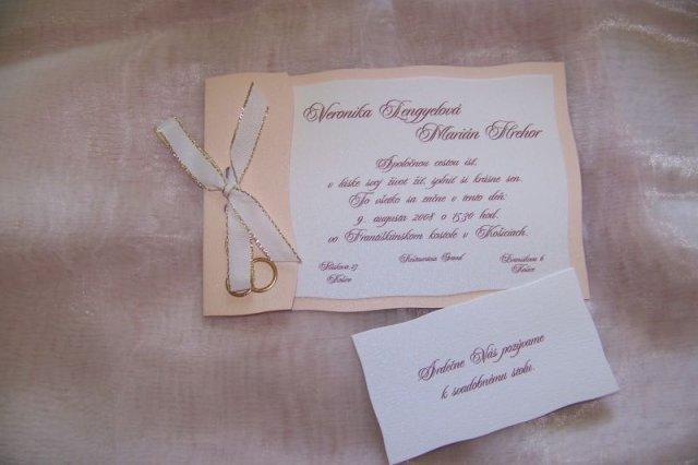 Majko a Niki 9.8.2008 - naše svadobné oznámenia