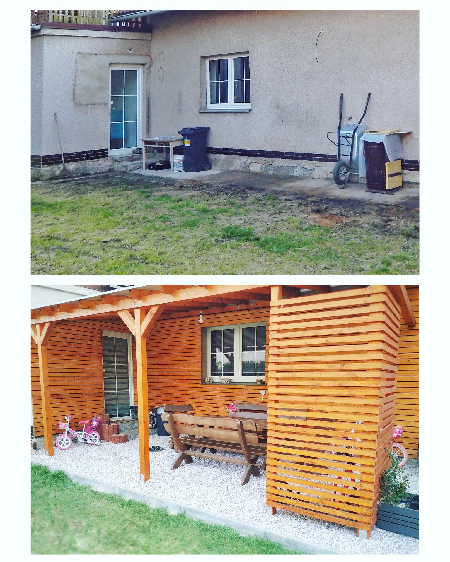 Když je Váš dům po několika letech uvnitř hotový a začínáte svépomocí venku. 🙏 🌿🌼 PŘED A PO 🌼🌿 - Obrázek č. 1