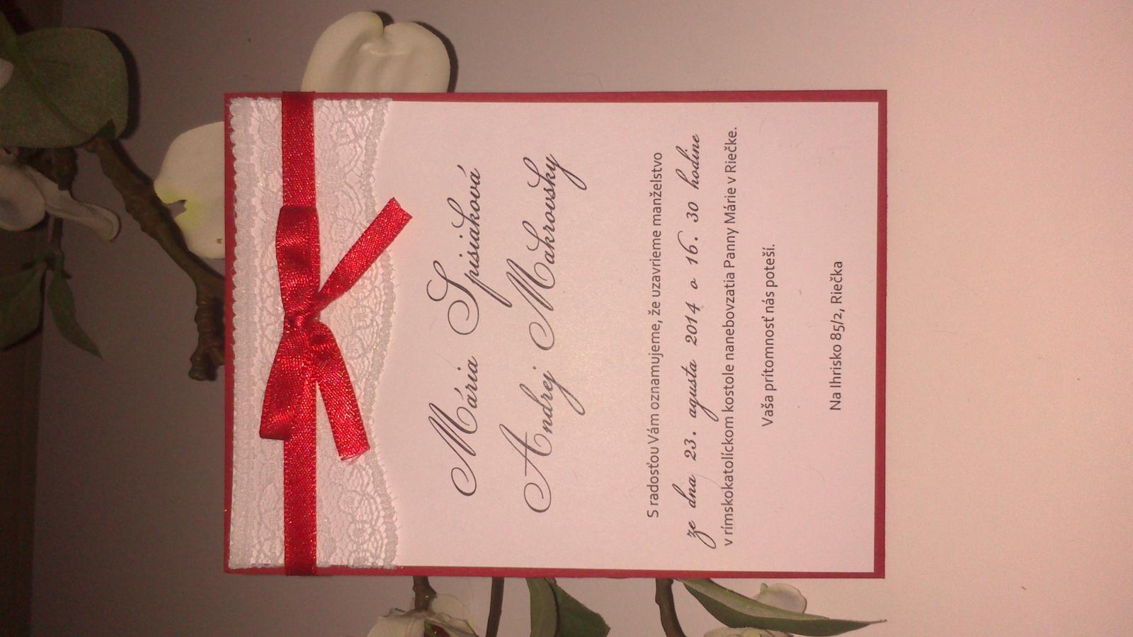 Nádherné svadobné oznámenia - Obrázok č. 1