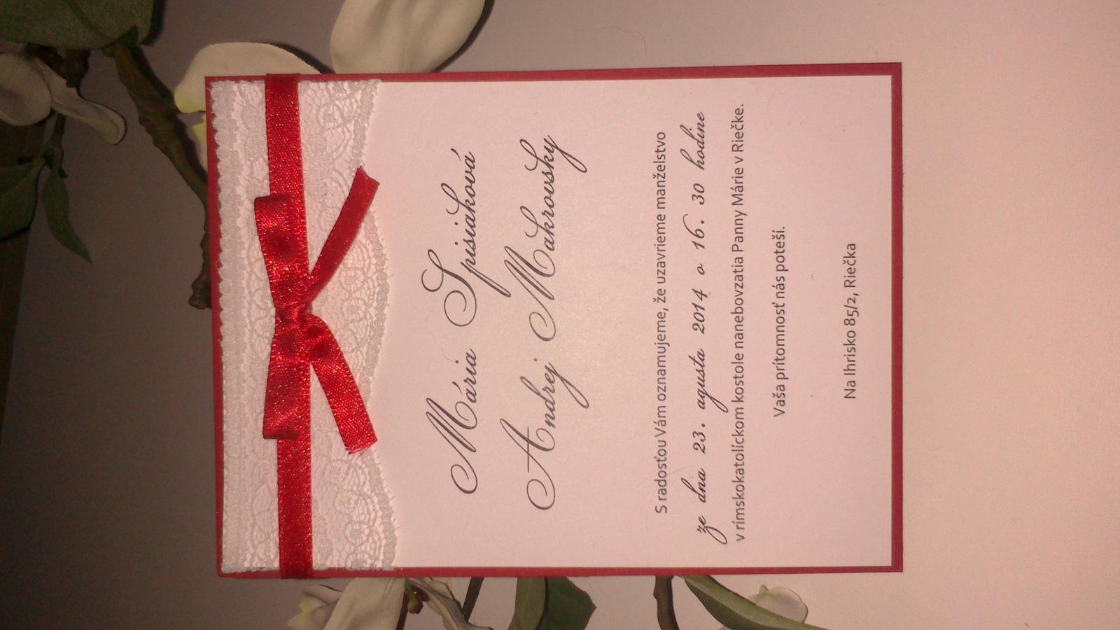 Nádherné svadobné oznámenia - Obrázok č. 2