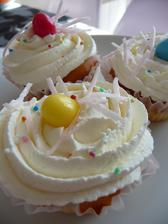 cupcake se zakysanou smetanou