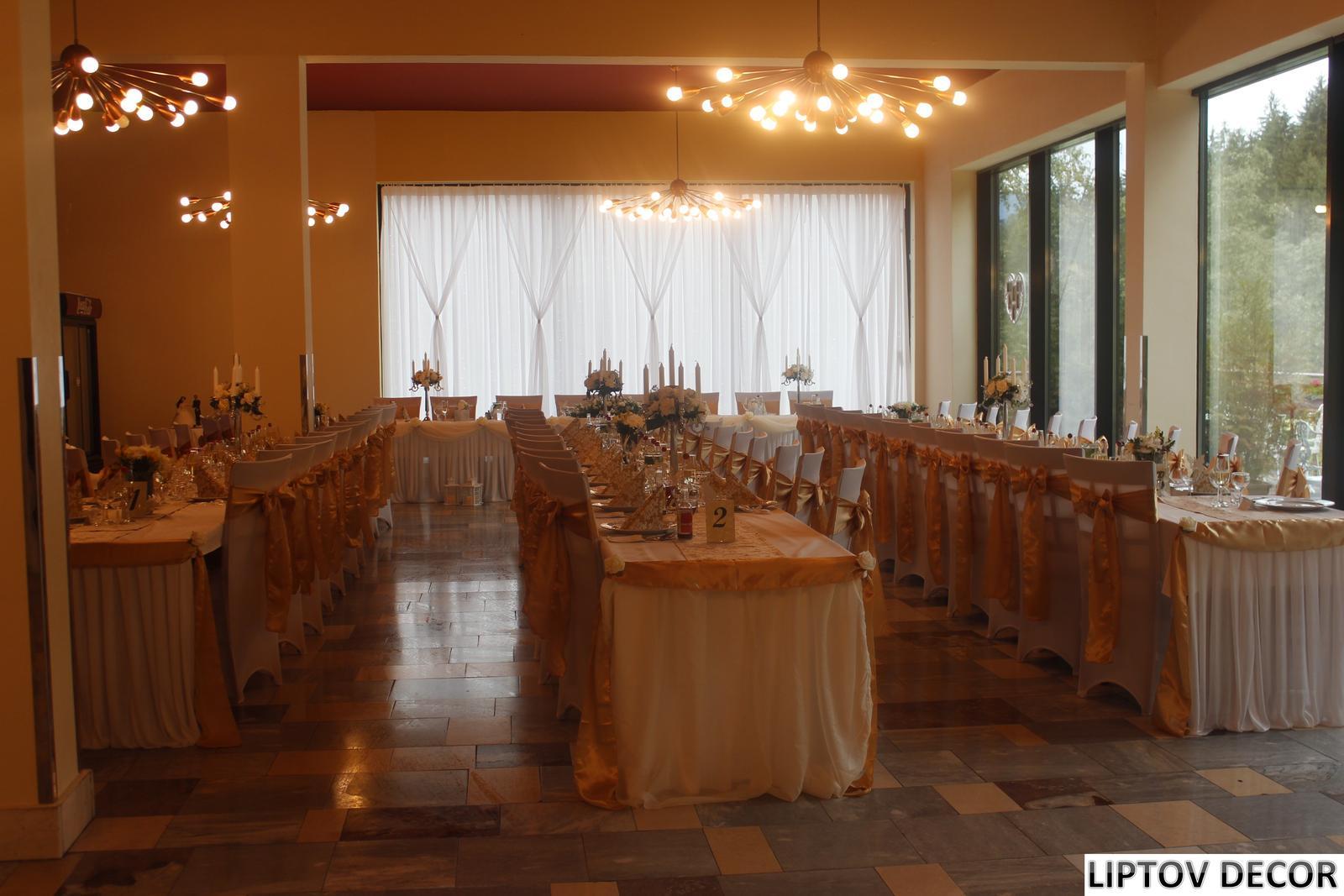 Svadobná výzdoba - HOTEL HRABOVO RUŽOMBEROK - Obrázok č. 2