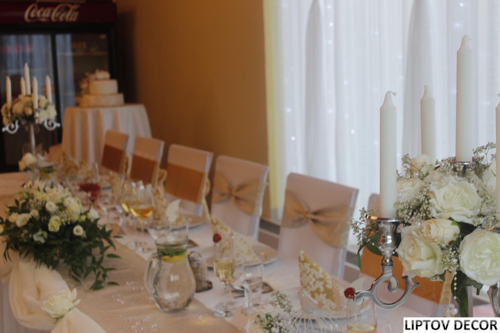 Svadobná výzdoba - HOTEL HRABOVO RUŽOMBEROK - Obrázok č. 15