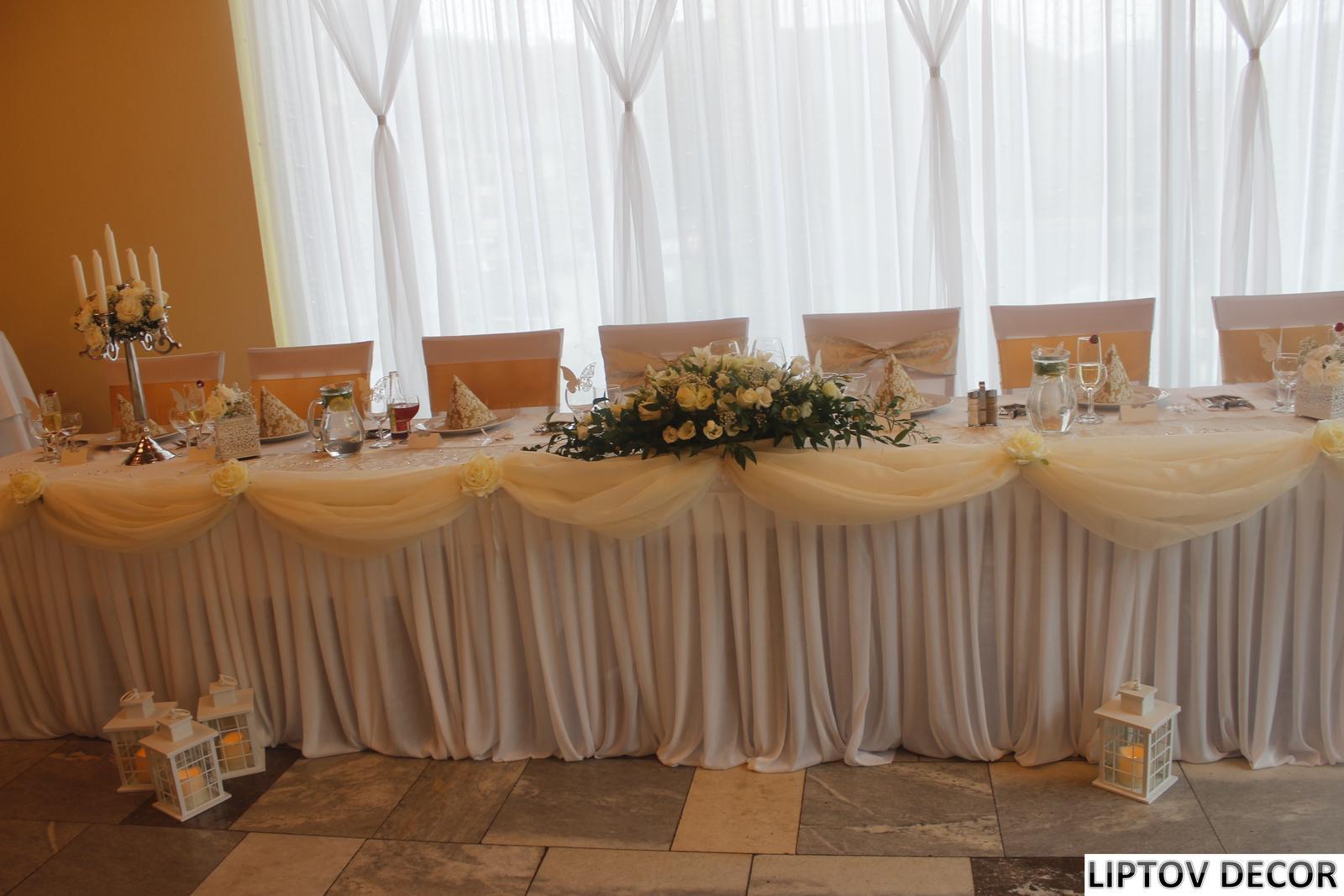 Svadobná výzdoba - HOTEL HRABOVO RUŽOMBEROK - Obrázok č. 17