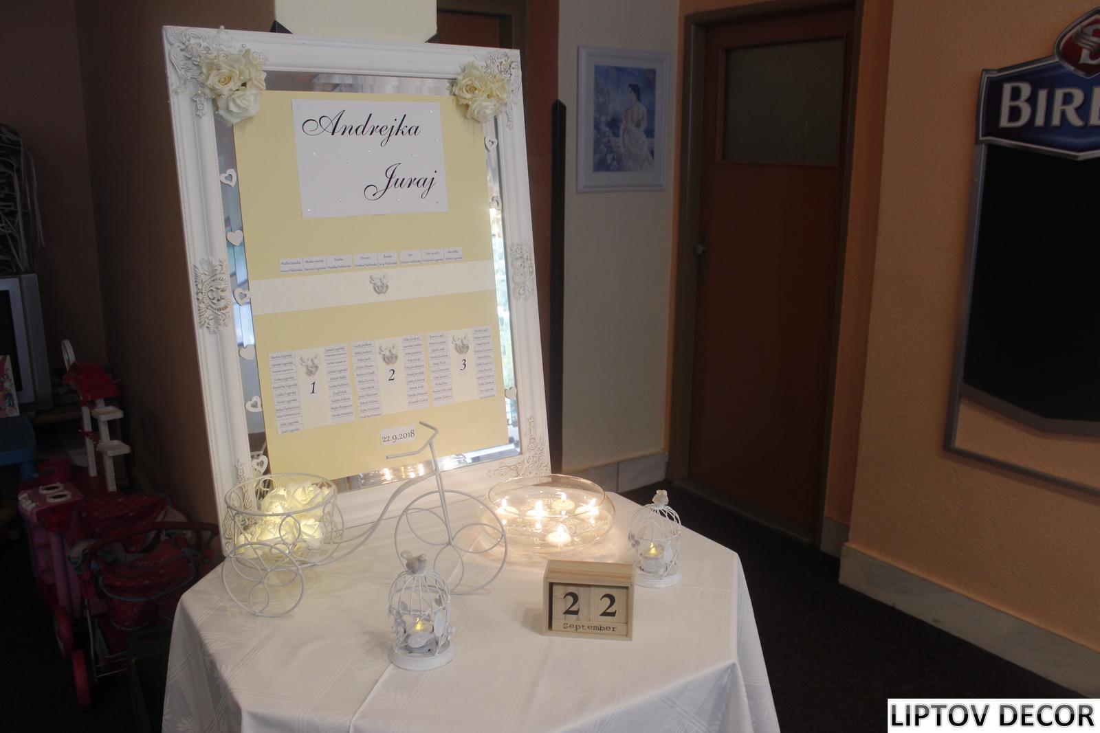 Svadobná výzdoba - HOTEL HRABOVO RUŽOMBEROK - Obrázok č. 22