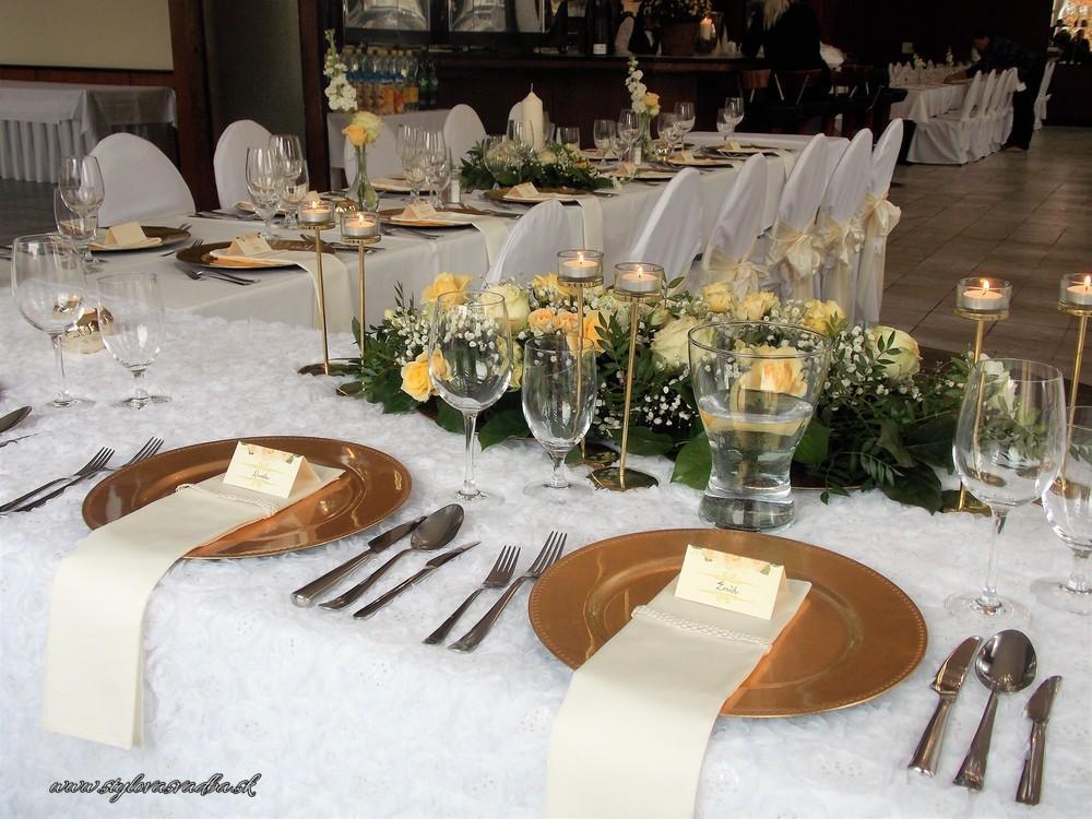 Zlato-maslová elegancia s jemnne zltymi ruzickami - Obrázok č. 4