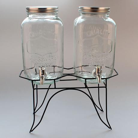 karafy na nápoje 3 l x 2ks na stojane - Obrázok č. 1