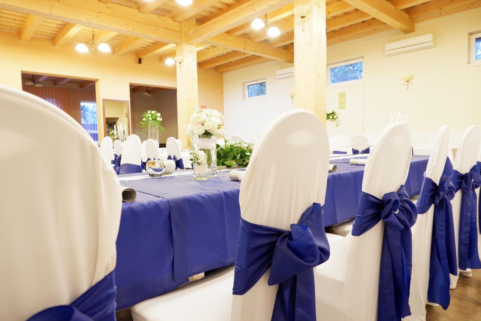 mašľa na stoličku kráľovská modrá - Obrázok č. 2