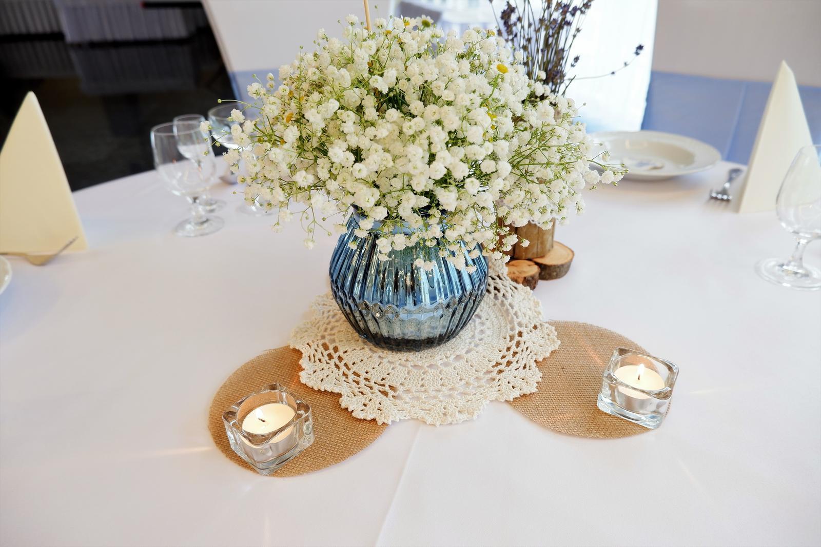 modré zrkadlové vázy - Obrázok č. 1
