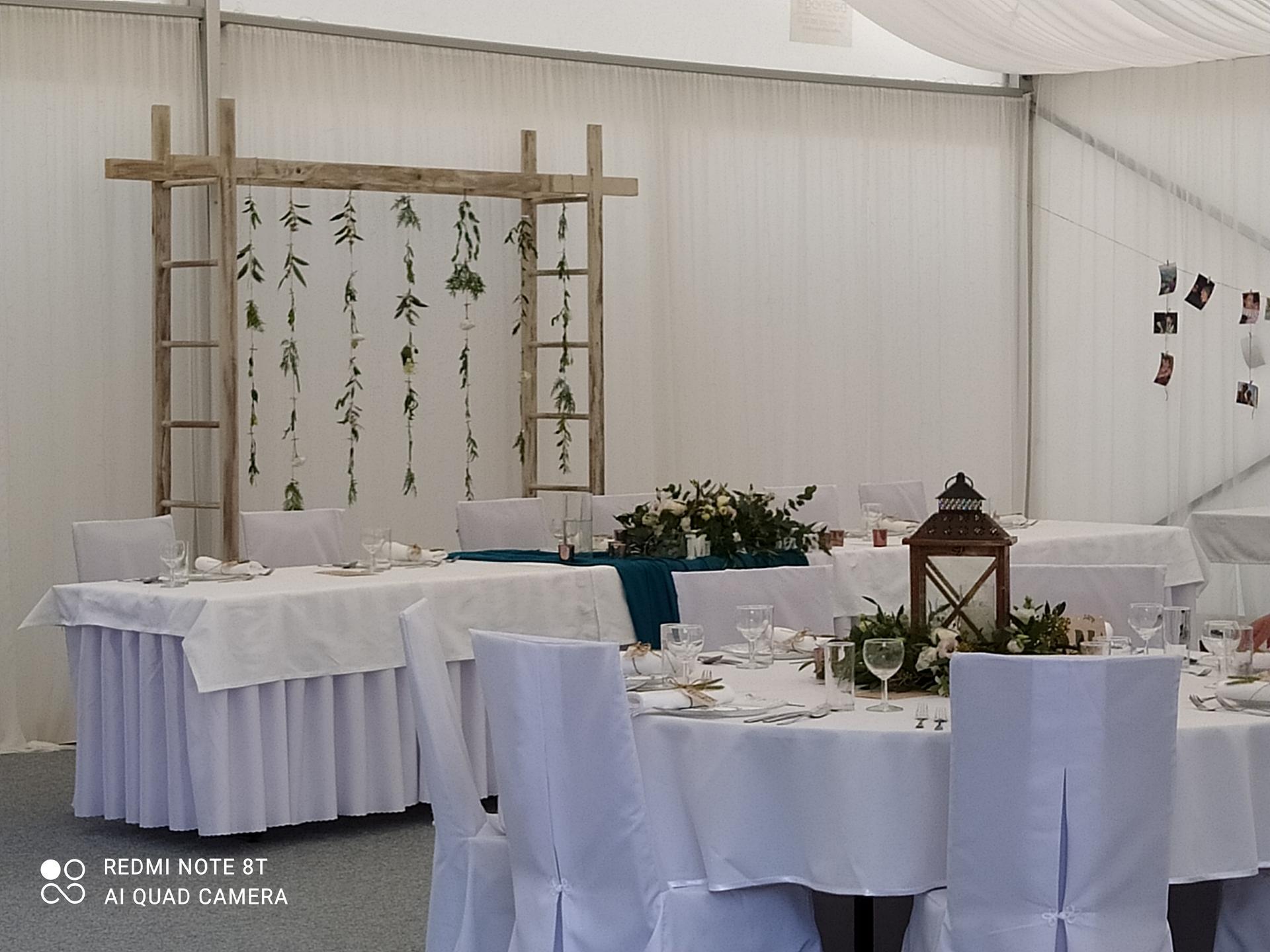 Svadobná výzdoba v stane na hotel Kochau Kováčová - Obrázok č. 5