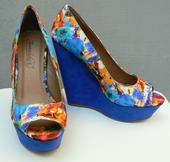Květováné boty na klínku, 38