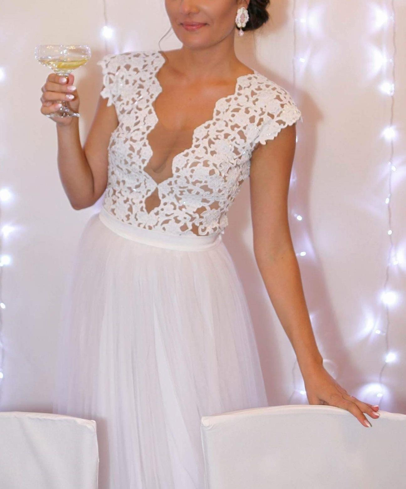 Luxusní svatební šaty 36/38 - Obrázek č. 1