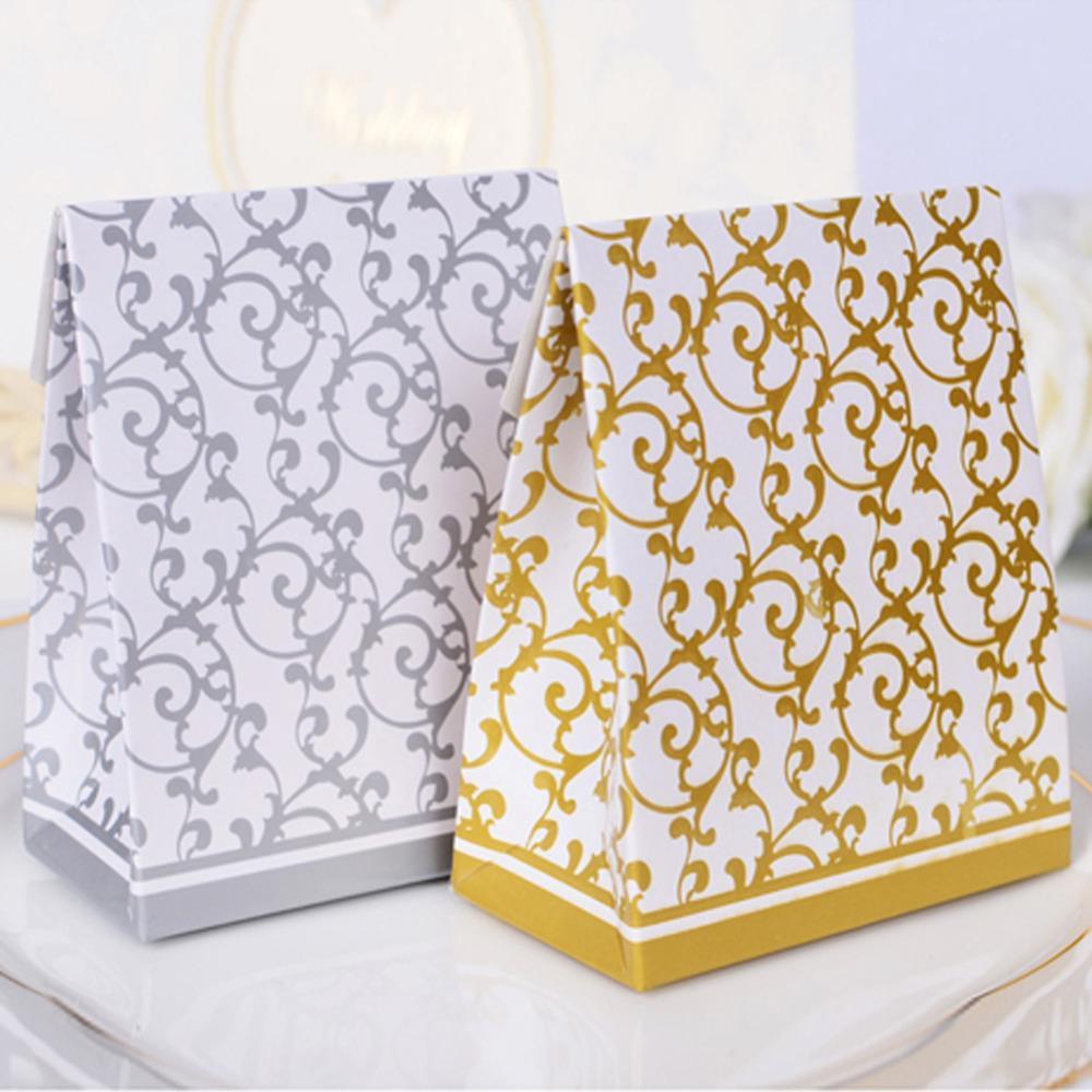 Krabička na darčeky pre hostí - 50 ks strieborná - Obrázok č. 1
